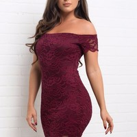 Jocelynn Dress - Burgundy