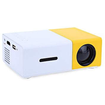 YG300 LCD Projector Full HD 1080P Mini Portable Home Theather Cinema LED Projector For Video Media Player