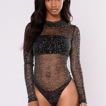 Nocturnal Mesh Bodysuit - Black