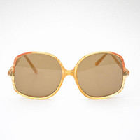 1970s Oversized Sunglasses Made in Italy Boho Style Women's