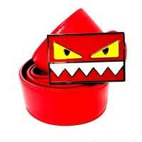 Fendi Belt Monster | Size 34 or 85 cm | Red Leather | Red Buckle | RM
