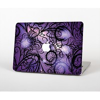 The Violet with Black Highlighted Spirals Skin for the Apple MacBook Air 13""