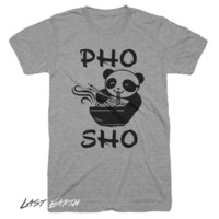 Pho Sho Funny T-Shirt Noodles Soup Tshirt Asian vietnamese Food Panda T Shirt