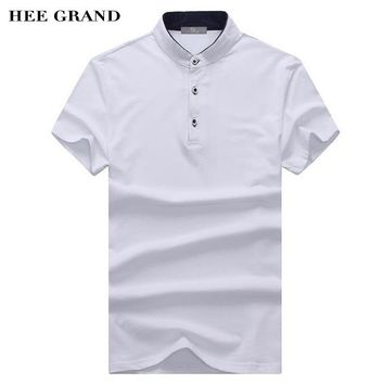 38ccf3365ed HEE GRAND Men Summer Polo Shirt 2018 New Arrival Stand Collar 10