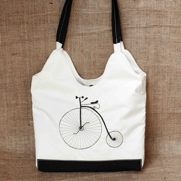 Velocipede bag, Beach bag, embroidery purse, handmade bag, elegant bag, casual bag