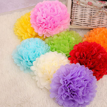 New year, 15cm=6 inch Tissue Paper Flowers paper pom poms balls lanterns Party Decor Craft Wedding multi color option
