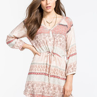 O'neill Miki Dress Pink Combo  In Sizes