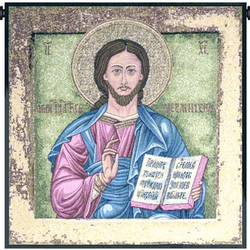 Christ Pantocrator Icon Tapestry Wall Art Hanging