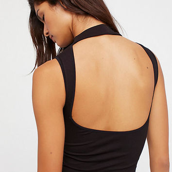 Open Back Seamless Crop