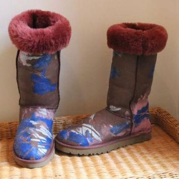 DCCK8X2 Ugg Boots Painted Big Bang Theory Penny size 10 Penny Penny Penny