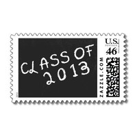 Graduation Class Of 2013 Fun Chalkboard Stamps from Zazzle.com