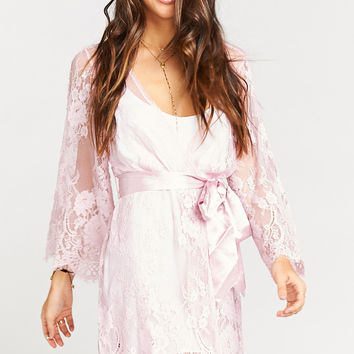 Lilah Lace Robe ~ Dusty Pink