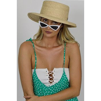 Welcome to the Jungle Raffia Boater Hat
