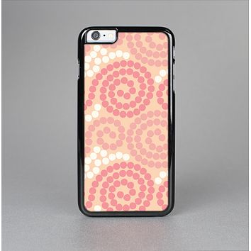 The Pink Spiral Polka Dots Skin-Sert Case for the Apple iPhone 6