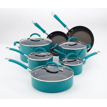 KitchenAid Peacock 12-piece Cookware Set | Overstock.com