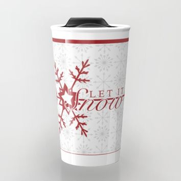Let it Snow Travel Mug by Rose's Creation