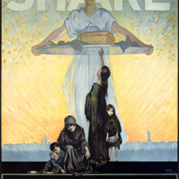 WWI Share Jewish Relief Campaign Advertisement Fine Art Print