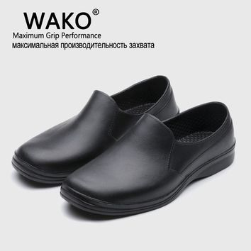 WAKO 2016 Hot Free Shipping Men Casual Flat Shoes EVA Chef Working shoes Kitchen Work Black Shoe Surgical Shoes Skid Oil-proof