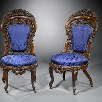American Rococo Side Chairs by Belter