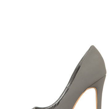 Single Sole Classic Pump (Grey)
