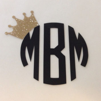 Monogram with tilted crown