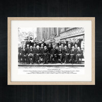 Vintage Science Photography - Fifth Solvay Conference 1927 on Electrons and Photons - science poster educational print