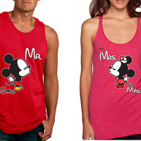 Mr soul Mrs mate kiss couples tanktops Valentines day