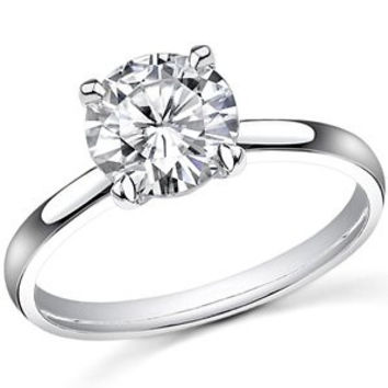 14K White Gold 2 Carat Cubic Zirconia Engagement Ring (4 Prong) by CZ Sparkle Jewelry®