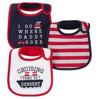 Just One You™ Made by Carter's® Baby Boys' 3-Pack Bib Set - Red