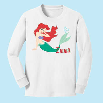 Disney's Ariel personalized long sleeve T shirts