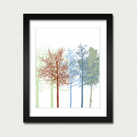 The Trees 2 - Art Print 8 x 10, wall decoration, sale buy 2 get 3