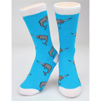 "CREW SOCKS - ""NARWHALS"""