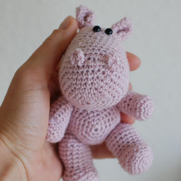 Amigurumi Pink Hippo by ZayaLosya on Etsy