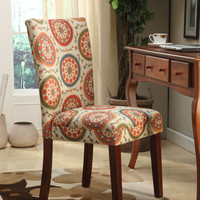 Multi Color Suzani Parsons Chair (Set of 2)