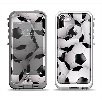 The Soccer Ball Overlay Apple iPhone 5-5s LifeProof Fre Case Skin Set