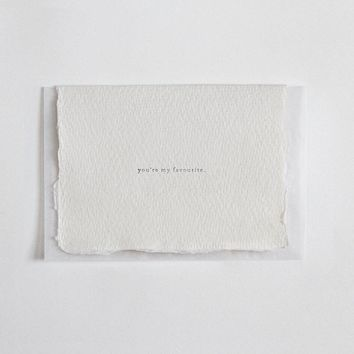 """""""You're My Favorite"""" Letterpress Greeting Card"""