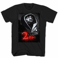 2pac Rapper T Shirt Men