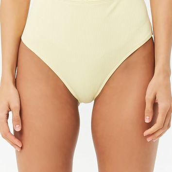 Ruffled High-Waisted Bikini Bottoms