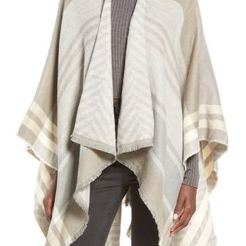 La Double 7 Plaid Poncho | Nordstrom