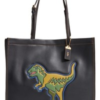 COACH 1941 'Skinny 34' Dinosaur Embossed Leather Tote | Nordstrom