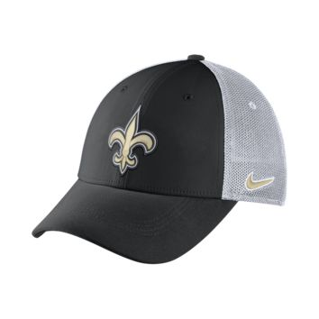 Nike Legacy Vapor Mesh Back (NFL Saints) Fitted Hat