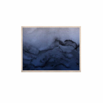 "Ebi Emporium ""Winter Waves 3"" Blue Black KESS Naturals Canvas (Frame not Included)"