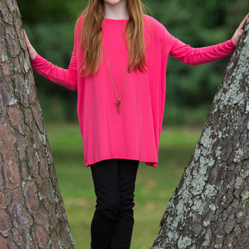 The Perfect Kids Piko Long Sleeve Piko-Fuchsia