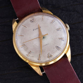 Vintage Raketa mens watch 21 jewels gold plated russian watch ussr ccp soviet watch