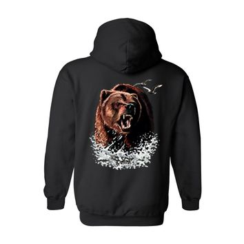 Men's/Unisex Zip-Up Hoodie Grizzly Bear