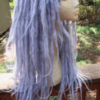 Celestial Blue Pastel Lavender Dreadlock Wig * Synthetic Dreads * Custom Wig * Pastel Goth * Fairy Kei * Kawaii *