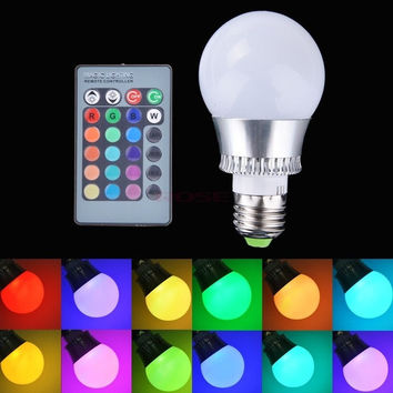 New E27 10W RGB LED Light Color Changing Lamp Bulb 85-265V With Remote Control Light SV007901_2|26601 = 5979094209