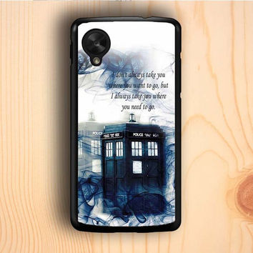 Dream colorful Tardis Doctor Who Police Box Smoke Quotes Nexus 5 Case