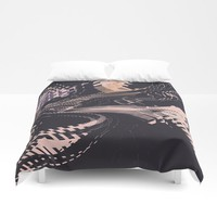 Static Duvet Cover by duckyb