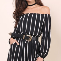 Sunday Stevens Dressed To The Lines Romper
